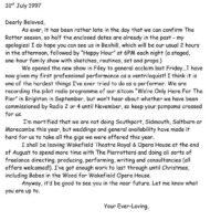Letter to Fans