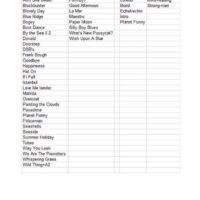 Song List 09-07-1998