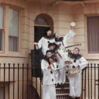 1984 Pierrotters on steps of a house