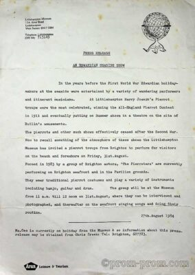 1984.08.27 Littlehampton press release