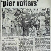 Mayor and the 'Pierrotters' 1985-07-26 Brighton Evening Argus Friday