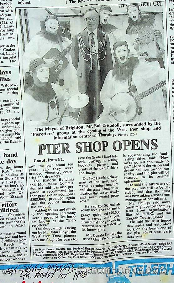 Pier shop opens 1985-08-01 West Sussex Gazette