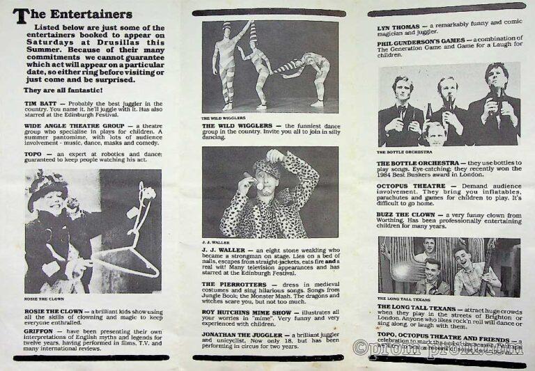1985-09-09 Drusilla's Entertains Drusilla's Zoo 1a