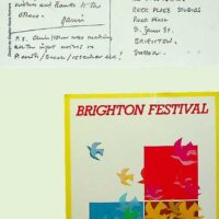 1986-02-27 Postcard from Gavin Henderson re Brighton Festival