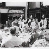 1987-Pierrotters-promo-photo-at-an-outdoor-cafe