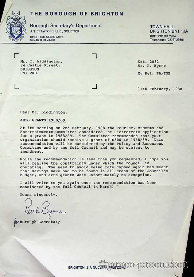 1988 Brighton Arts Grants