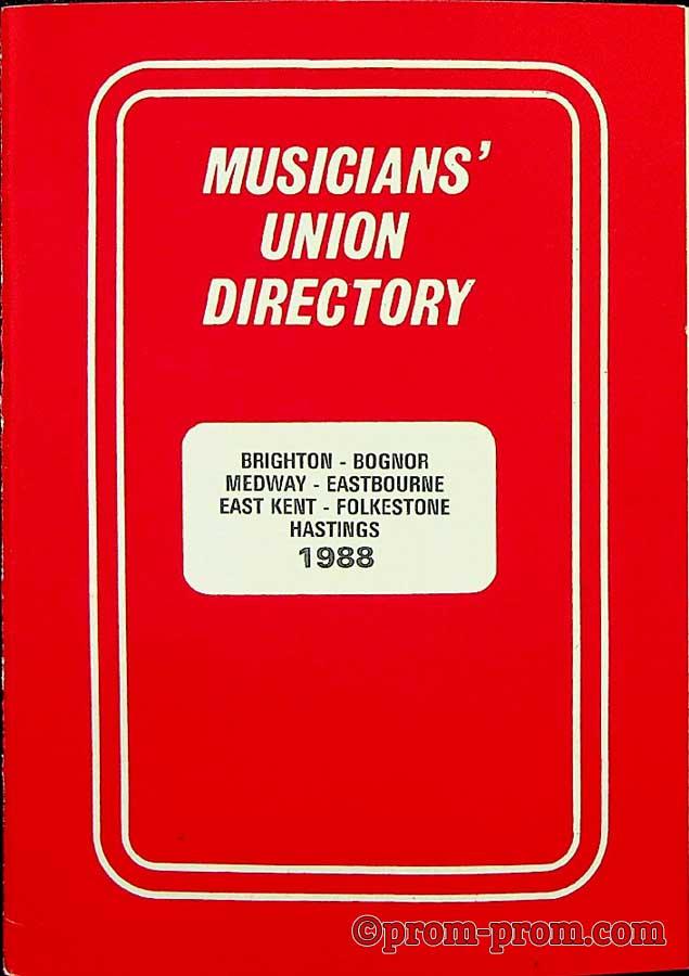 1988 Musicians Union Directory 1