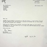 1991-01-29 Filey Edwardian Festival contract