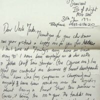 1991-01-30 letter from Jake asking to link the Pierrot Promenaders with The Pierrotters 1