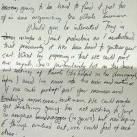 1991-01-30 letter from Jake asking to link the Pierrot Promenaders with The Pierrotters 1a
