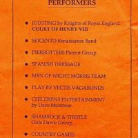 1991-08-11 Arreton Manor Pageant, Isle of Wight programme 1