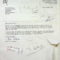 1991-12-06 Filey Festival contract