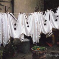 1991 Bradford Festival costumes on washing line