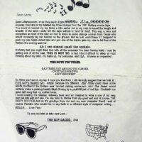 1991 letter from Boy Gacko