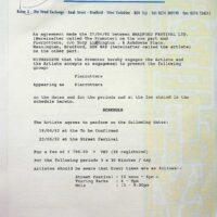 1992-04-27 Bradford Festival contract 1
