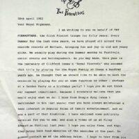 1992-04-30 Queen Mother letter