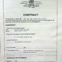 1992-06-18 Cardiff City Council contract