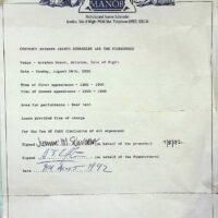 1992-08-16 Arreton Manor, Isle of Wight contract