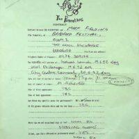1992 Bradford Festival contract 1
