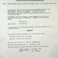 1992 Bradford Festival contract