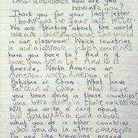 1992 Letter from Class U3l Bradford 1