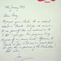 1993-01-17 Letter from Jon Marshall, Magic Carpet Theatre