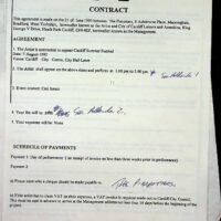 1993-06-21 Cardiff City Council contract