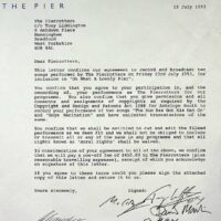 1993-07-23 Letter from Antelope re-Oh What A Lovely Pier-filming 1