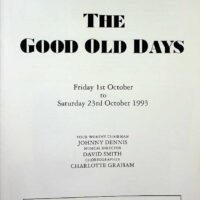 1993-10-23 Programme for Leeds City Varieties Good Old Days 1a