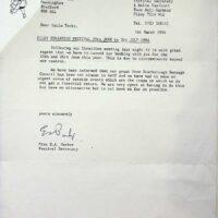 1994-03-01 Filey Edwardian festival cancellation