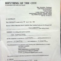 1994-07-14 Rhythms of the City, Leeds contract 1