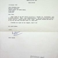1994-10-18 Fanmail from Kate Taylor re Wakefield Opera House Centenary performance