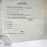 1995-07 Pier Productions schedule for radio recording