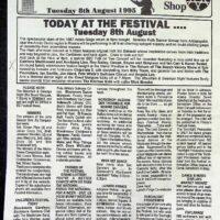 1995-08-08 Sidmouth International Folk festival