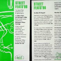 1996-08-26 Hastings, Streets of the South leaflet 1