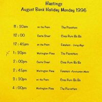 1996-08-26 Hastings, Streets of the South running order