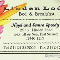 1996 Mrs Speedy business card