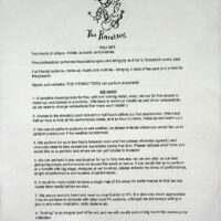 1996 Press release + 'You Get, We Need' 1