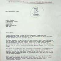 1997-02-17 Letter about Phil Kelsall Gala Concert at Blackpool Tower Ballroom 1