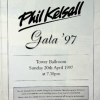1997.04.30 Phil Kelsall Gala Concert at Blackpool Tower Ballroom brochure 1a