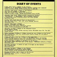 1997.05.02 Edwardian Festival, Bexhill, diary of events
