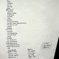 1997-05-11 List of songs & sketches