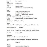 1997 Gig List