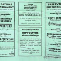 1997 Summer entertainment hand-out, De La Warre Pavilion, Bexhill 1a