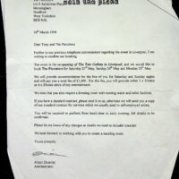 1998-03-24 Contract with Walk the Plank to re-open Liverpool art gallery