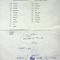 1998-07-11 One Man Band Shebang, Morecambe, Saturday running order