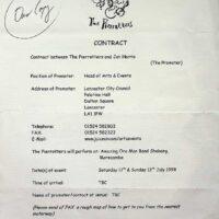 1998-07 One Man Band Shebang, Morecambe contract 1