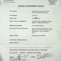 1998-07 One Man Band Shebang, Morecambe contract 1c