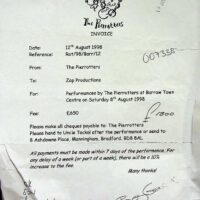 1998-08-12 Barrow gig contract with Zap