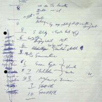 1998-10-18 Todmorden setlist